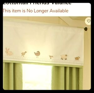 Pottery Barn Kids Cottontail Friends Valance